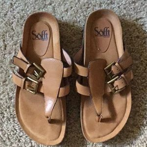 Sofft tan leather sandals 6 1/2